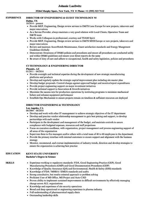 Engineering Technology Resume Samples | Velvet Jobs