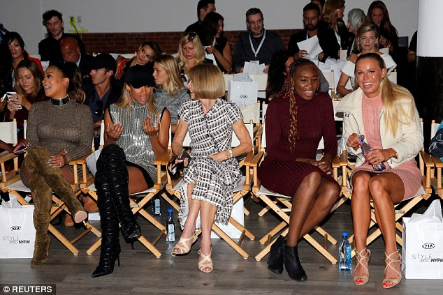FROW fun: It seems the front row were having a whale of a time