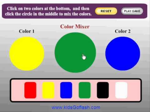 Preschool Game for kids - Color Mixer - YouTube