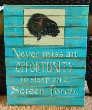 Sleep on a Porch