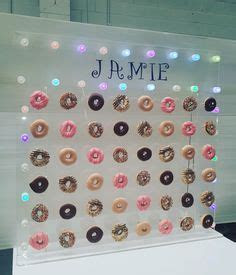 Mini donut wall for hire. Perspex acrylic www