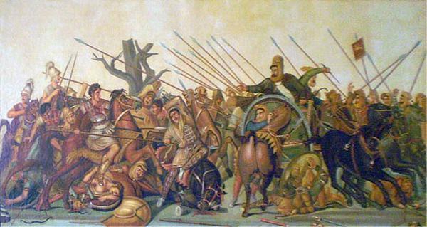 Παλιά ελαιογραφία  του Αλέξανδρου μωσαϊκό