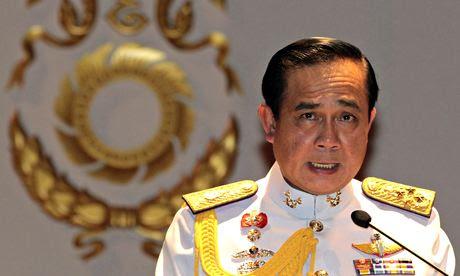 Geral Prayuth Chan-ocha diz jornalistas o rei tem de defendê-lo para executar Tailândia após o golpe