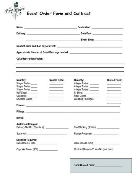 Order form, Events and Cakes on Pinterest