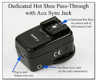OC1022: Off Camera Cord Shortened to Pass-Through with Dedicated Hot Shoe and Aux Sync Jack