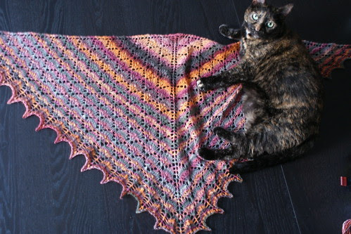 Forest Canopy Shawl, With Cat