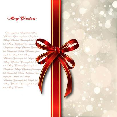 リボンギフトクリスマス背景のイラストaieps ベクタークラブ