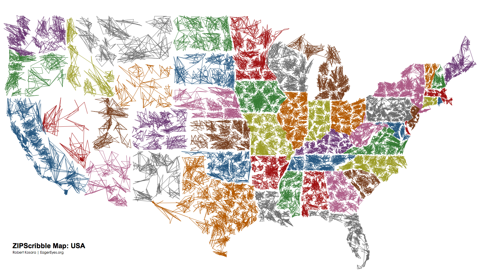 Us Map Color Code | Map North East