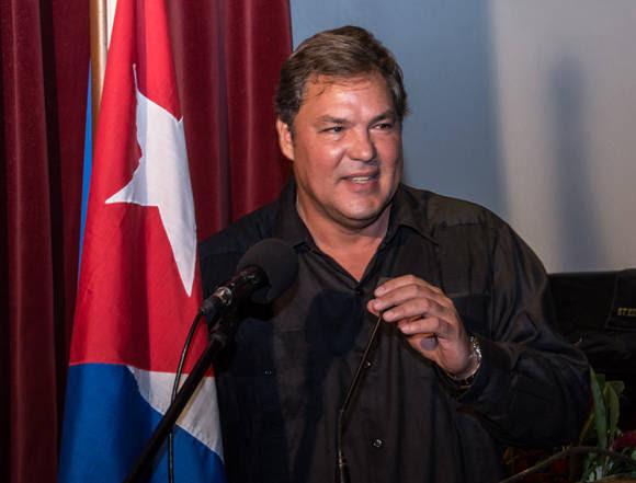 Intervención del Héroe de la República de Cuba Ramón Labañino. Foto: ACN/ Marcelino Vázquez.