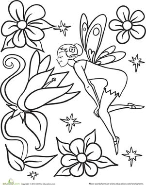 Flower Fairy | Worksheet | Education.com