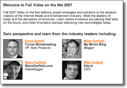 Video on the Net: Industry Leaders