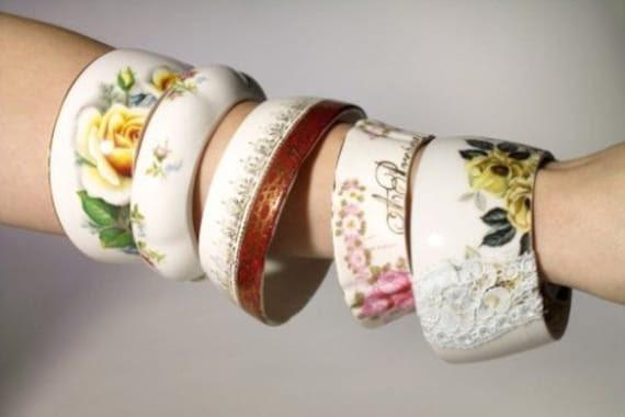 The Original Maker Of Teacup Bracelets By StayGoldMaryRose - Charming Vintage Bonechina Tea Cup Bracelets