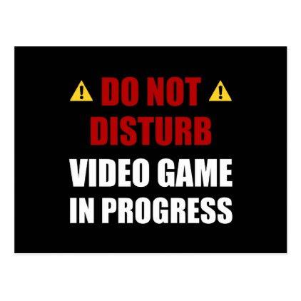 Do Not Disturb Video Game Postcard