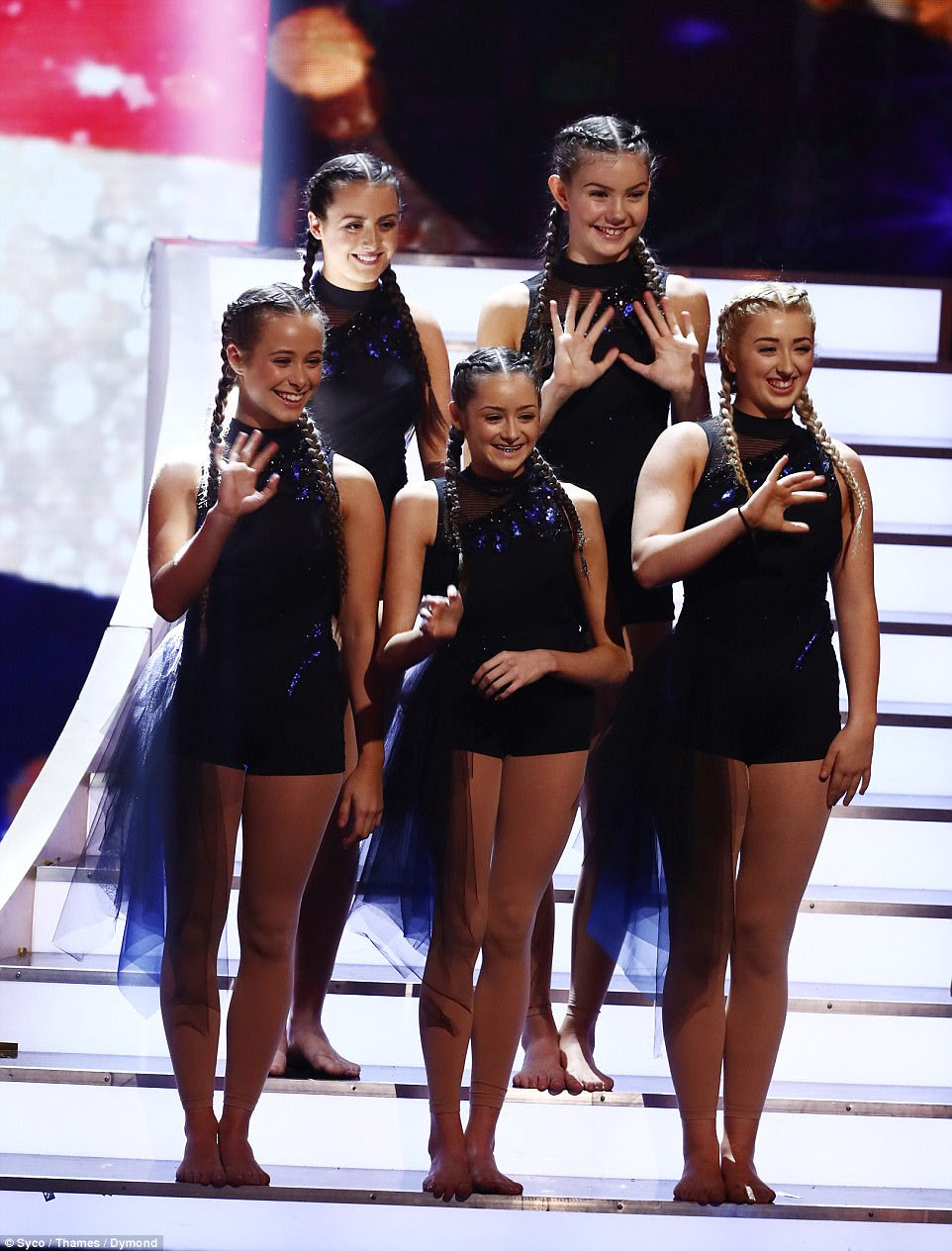 Dancing sensation:Elsewhere in the action-packed final Simon Cowell was left heartbroken by 15-year-old Julia Carlile's tale as the MerseyGirls danced up a storm