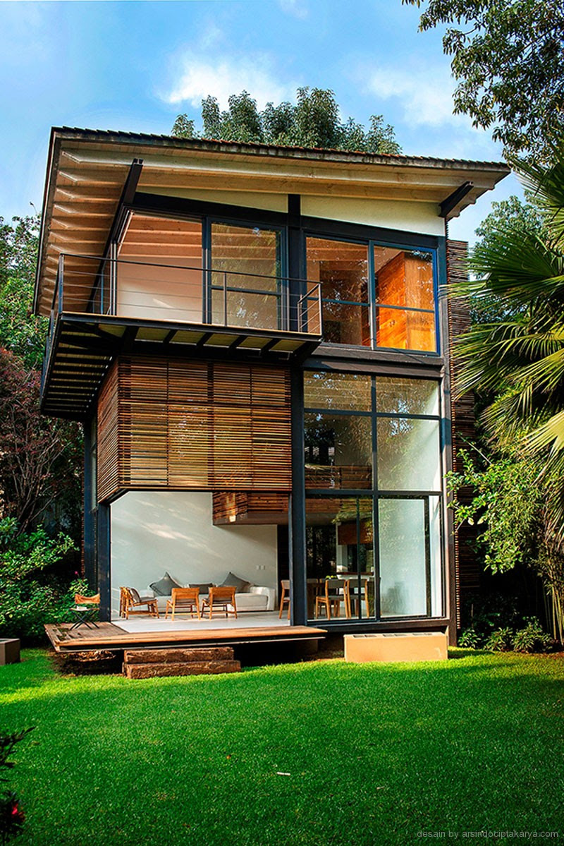 Beberapa Ide Desain Rumah Kayu Modern Yang Menarik