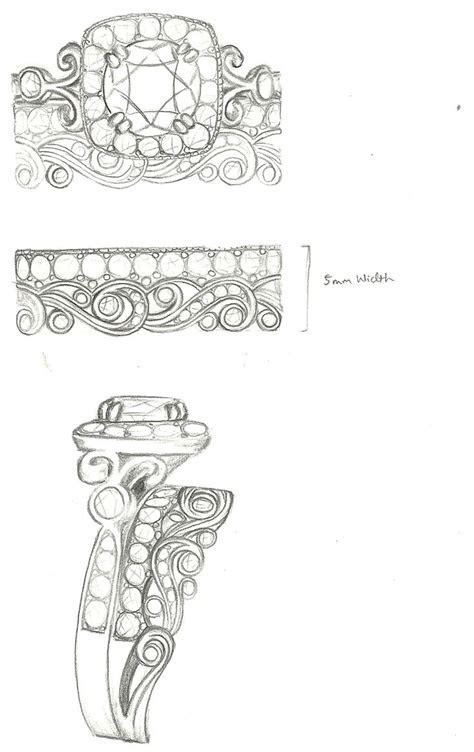 1000  images about Jewelry Sketches on Pinterest   Ring