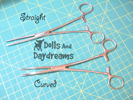 Hemostats turning dolls softies limbs tutorial