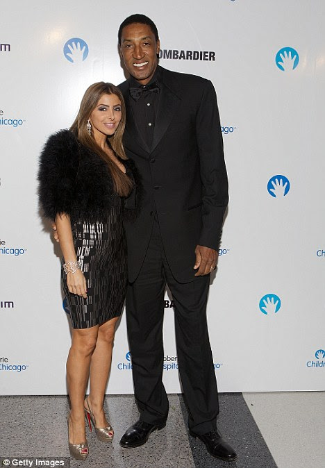 Star-studded: lenda da NBA e aposentados Chicago Touro Scottie Pippen participou da gala com sua esposa Larsa