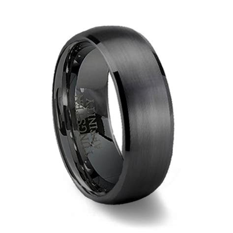 black mens wedding bands ideas