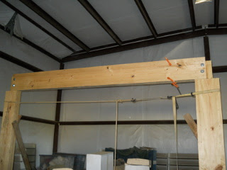 Barn Loft Cross Beam Installed