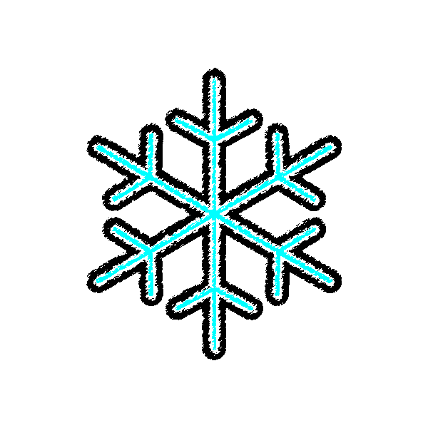 手書き風でかわいい雪の結晶の無料イラスト商用フリー オイデ43