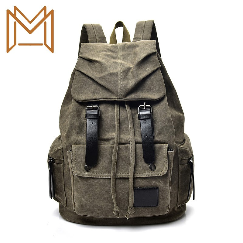 Discount Canvas Both Shoulders Backpack Capacity Travelling Bag Male Leisure Time Computer Package Student Bag