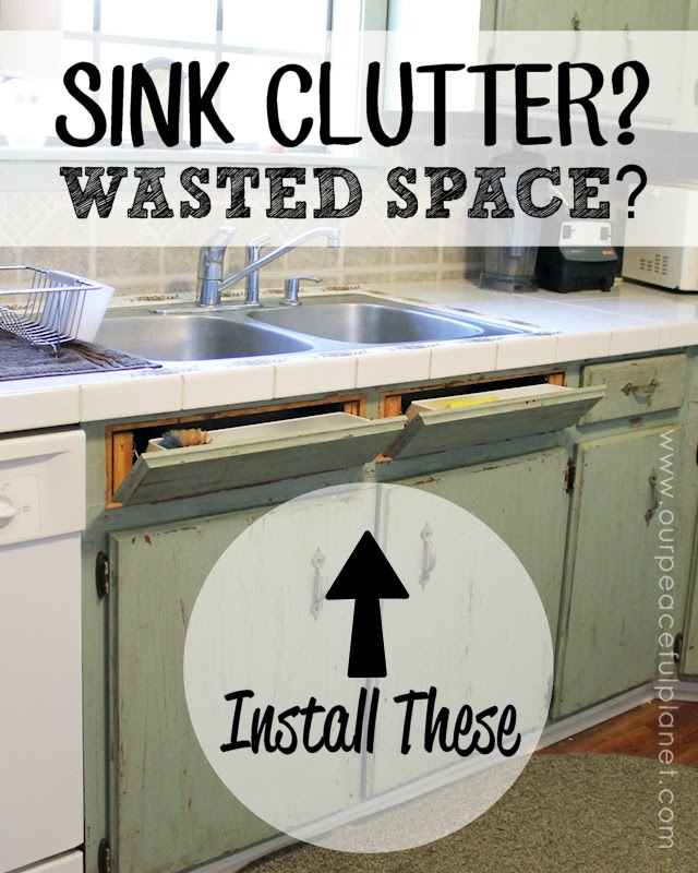 Get rid of sink clutter and utilize wasted space by installing tip out hidden trays in your kitchen!