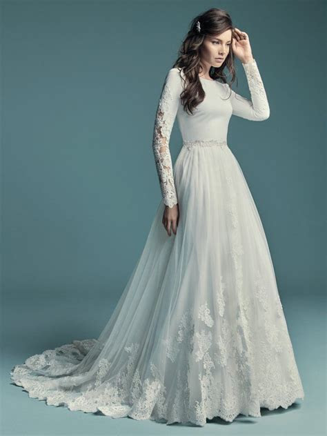 Olyssia (8MW678) Simple Long Sleeved Wedding Dress by