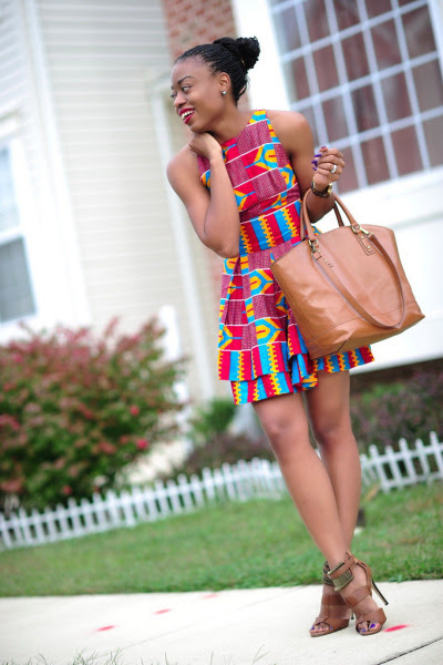 kente beautiful lady