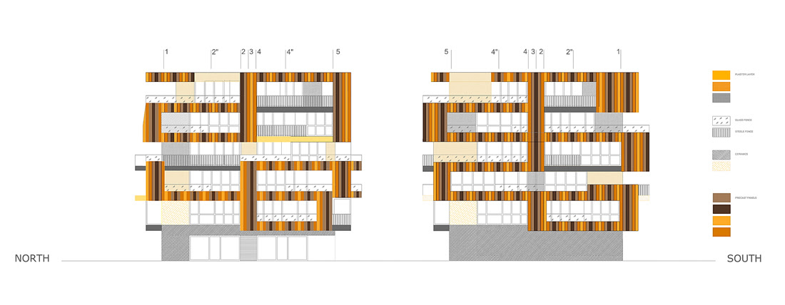 Lace Apartments / OFIS arhitekti 2096233911_south-north-elevations ...