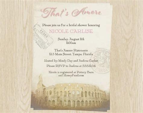 Bridal Shower Invitations, Pink, Italy Theme, Wedding