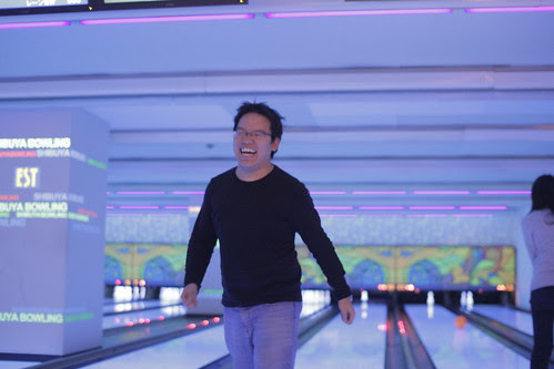 Me missing the bowling pins
