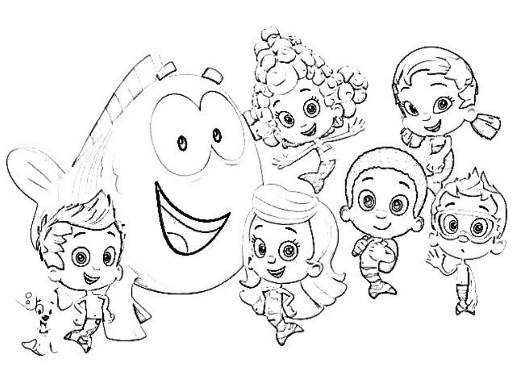 Free Printable Bubble Guppies Coloring Pages Printable Coloring And Drawing