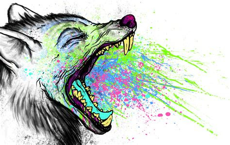 trippy wolf wallpapers wallpapersafari