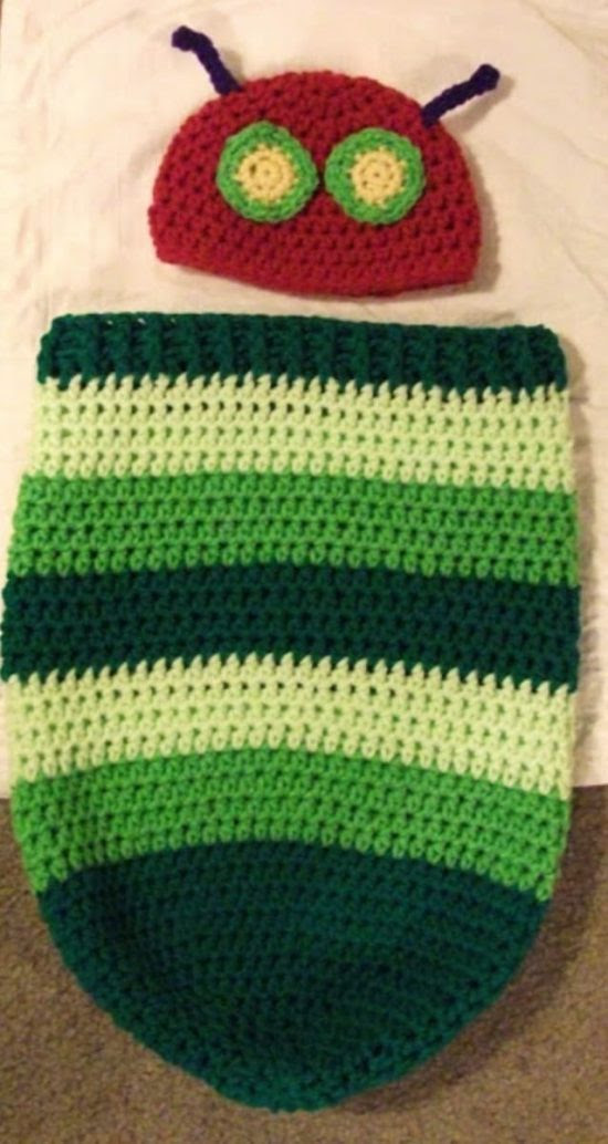 Hungry Caterpillar Hat and Cocoon Free Crochet Pattern