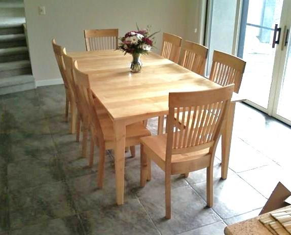 Solid Maple Prairie Table With Leaf Boulder Furniture Arts