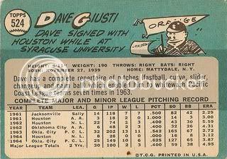 #524 Dave Giusti (back)