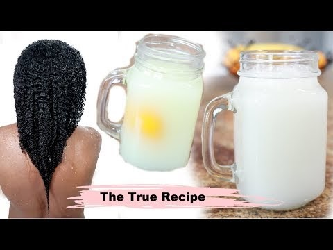 Yao women Hair Growth Secret - How to make rice water for hair growth