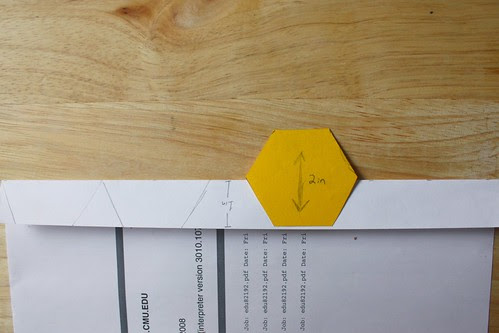 Step 3: Fold Paper and Trace Half Hexagon