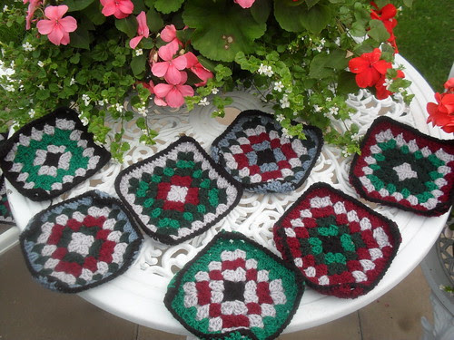 Beautiful Colours on these Squares great for our 'Men!'.