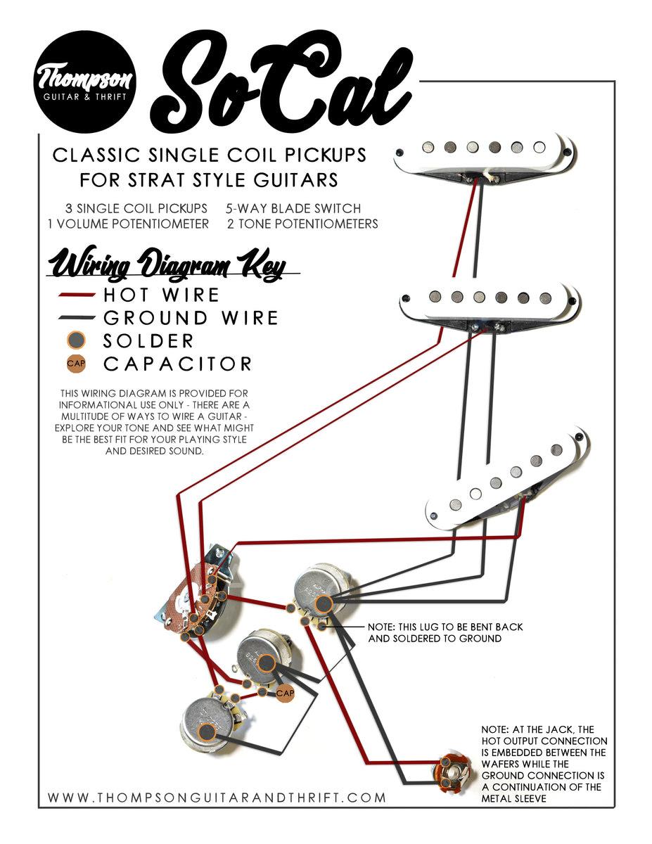 Socal Single Coil Pickups Wiring Diagram Thompson Guitar Thrift