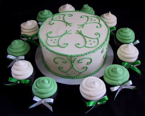 Bridal Shower Cake and Cupcakes   The Twisted Sifter