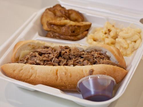 Boneless rib sandwich combo
