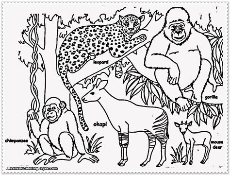 realistic jungle animal coloring pages realistic