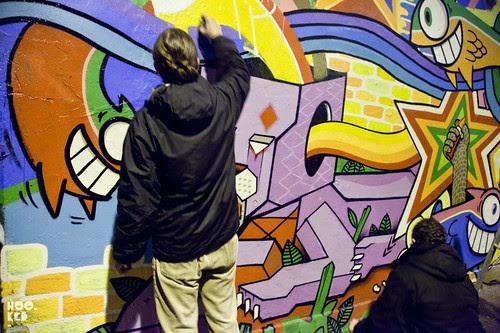 DIBO & PEZ, Streetart Mural in Shoreditch, London. 2012 Photo ©Hookedblog / Mark Rigney