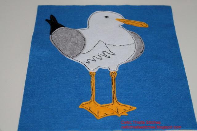 Seagull applique