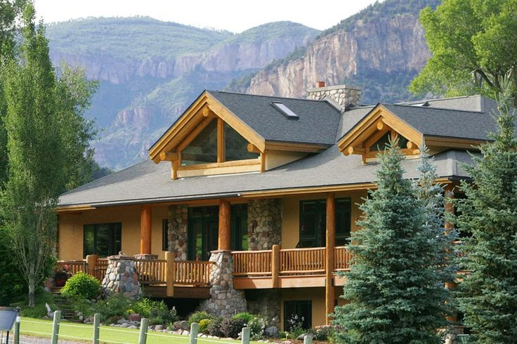 Luxury mountain log home plans clinetop ranch waterfront for Mountain home designs colorado