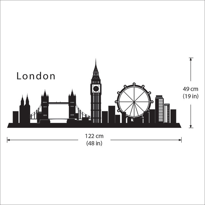 London Skyline City Silhouette Vinyl Wall Art Decal