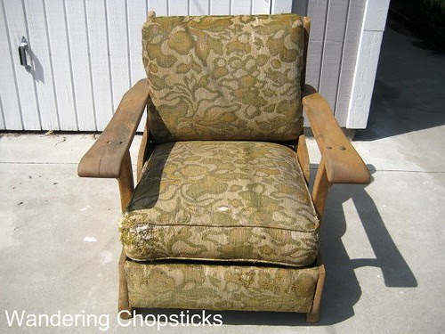 Before and After Wooden Arm Chair 2