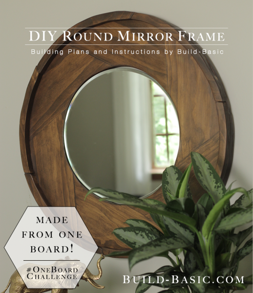 Build A Diy Round Mirror Frame Build Basic